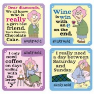 Aunty Acid Says it all - Coasters