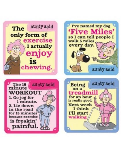 Nah - Exercise Aunty Acid Coasters