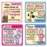 Nah - Exercise Aunty Acid Coasters