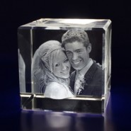 Cube Laser Engraved Crystal
