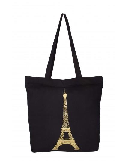 Golden Eifel Tower Tote Bag