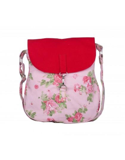 Red & Pink roses Sling bag