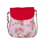 Red & Pink rose Sling bag