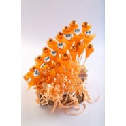 Orange Bouquet with Choclates