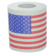 US flag toilet paper