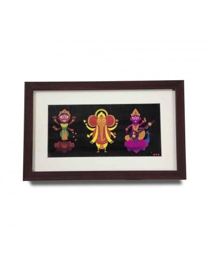 Ganesh Lakshmi Saraswati Wall Art